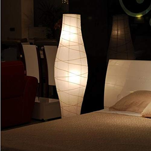 Lámpara de pie para el hogar, LED de lectura de pie, lámpara de pie creativa para sala de estar, pantalla de papel, dormitorio, lámpara de pie simple para el norte de Europa, protección ocular