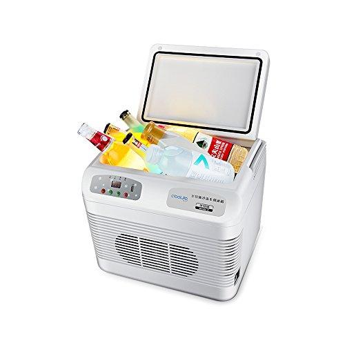 YZY Mini-vrieskast, 12 liter, voor kleinwagen, draagbare koelbox, kleine koelkast, huishoudkoelkast