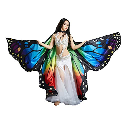 Jolie Mujer Chal Alas de Mariposa Danza del Vientre Atrezzo Profesional Hada Nymph Pixie Traje...