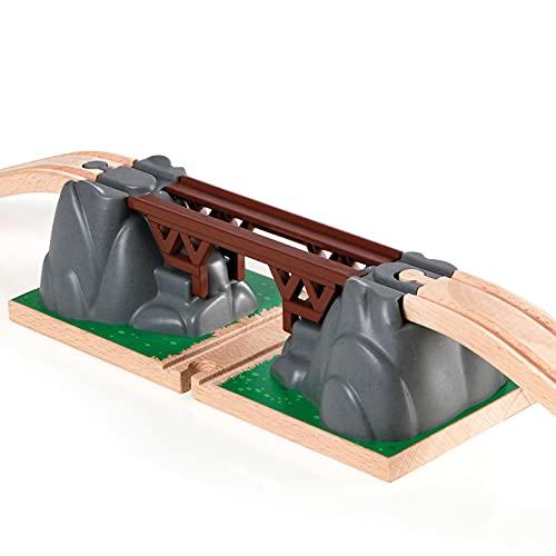 Brio World - 33391 - Pont catastrophe - Accessoire pour circuit de train en bois - Action de jeu sans pile - Le pont s'écroule - Jouet mixte à partir de 3 ans