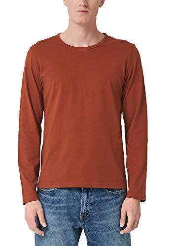 s.Oliver Herren 13.908.31.6699 T-Shirt, Orange (Navajo 2900), Large (Herstellergröße: L)