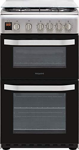 Hotpoint HD5G00CCX 50cm Double Cavity Gas Cooker - Stainless Steel