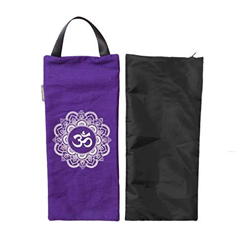 Yoga Sandsack – Baumwolle ungefüllt für Yoga Gewichte und Widerstandstraining, Farbe: Lila, Größe: 19,1 x 43,2 cm