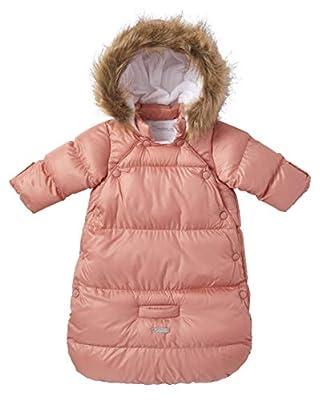 Cremson Girls Boys Newborn Infant Baby Puffer Carbag Pram Bag Snowsuit Bunting (0/6 Months, Mauve Pink Snap)