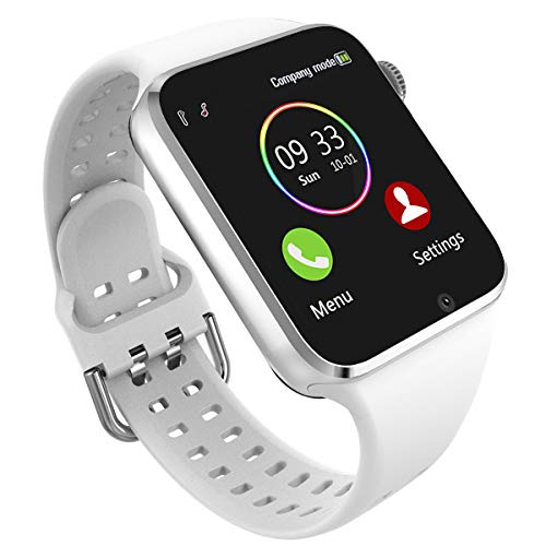 Smart Watch - 321OU Smartwatch for Android iPhone Compatible Samsung LG, Bluetooth Smartwatches Fitness Watch for Men Women with SIM SD Card Slot Camera Pedometer Support Call SMS (White)