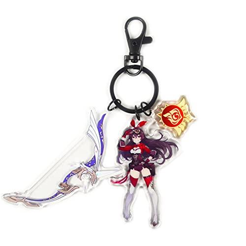 ACLBB Genshin Impact Noelle Llavero de Espada, Keychain de Metal de Anime, Modelo de Arma de Apoyo, Regalos de Anime