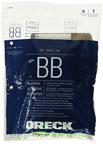 Genuine Oreck XL Buster B Canister Vacuum Bags PKBB12DW Housekeeper Bag 8 Pack