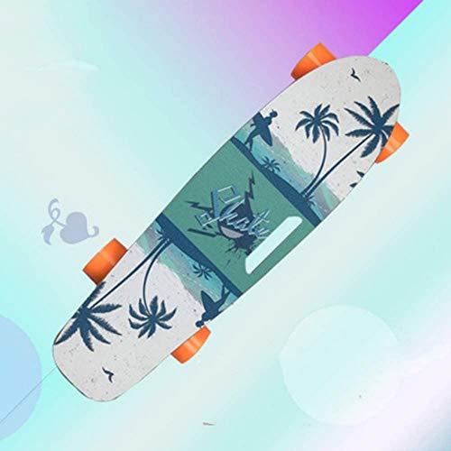 YLLN Motorized Board, E-Longboard Skateboard mit Fernbedienung, breitem und stabilem Skateboard Deck Mini Cruiser für Anfänger und Pendler in der Stadt