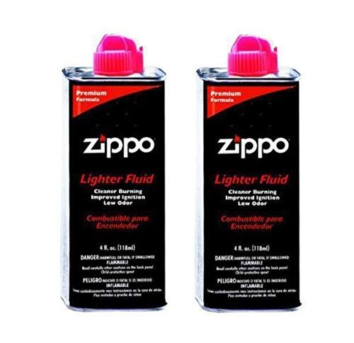 Zippo 494 Lighter Fluid 4 oz (2 Pack), Black