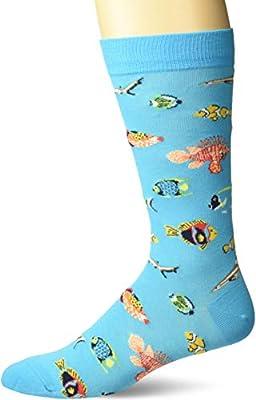 K. Bell Men's Novelty Wild Animals Crew Socks