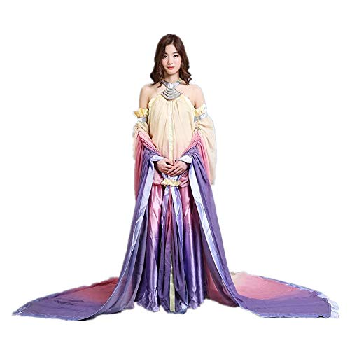 Queen Padme Amidala Naberrie Lake Kleid Halloween Cosplay Kostüm für Frauen - - X-Large