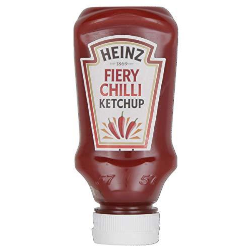Heinz Tomato Ketchup Fiery Chili Top Down, Confezione da 10 Pezzi