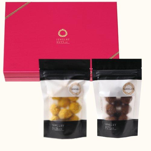 ジュエリーナッツ「スイーツ」2袋ギフトボックス(チョコレート・マンゴー)ジュエリーナッツ・カンパニー