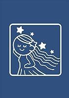 igsticker ポスター ウォールステッカー シール式ステッカー 飾り 841×1189㎜ A0 写真 フォト 壁 インテリア おしゃれ 剥がせる wall sticker poster 003366 ラブリー アニマル 星座 イラスト キャラクター
