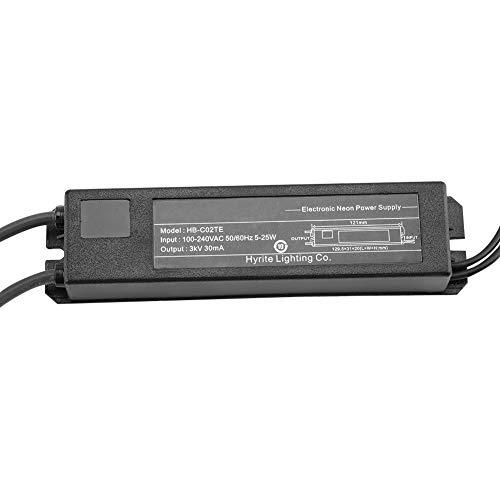 HB-C02TE 3KV 30mA Netzteil for Glas Neon Sign Elektronische Neonlicht Bier Zeichen Bar Lichter Transformator mit Wärmeschrumpfschutzrohr