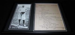 Knute Rockne Facsimile Signed Framed 1930 Letter & Photo Display Notre Dame