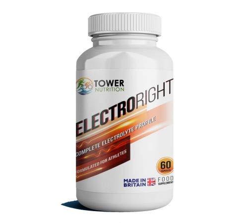 Elektrolyter | Mycket absorberande full mineralhydrering för att förebygga kramp | Inte bara salttabletter | Electroright 60 kapslar | Tower Nutrition C/o Hammer näring UK | Vegan, glutenfri | Tillverkad i Storbritannien