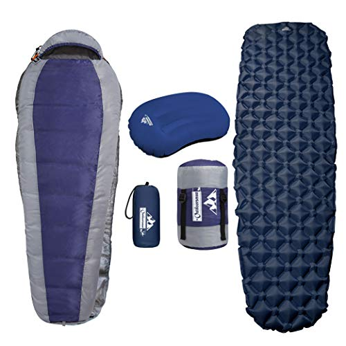 Outdoorsman Lab Mummy Sleeping Bag for Adults & Kids, Ultralight Backpacking & Camping Sleeping Bag,...