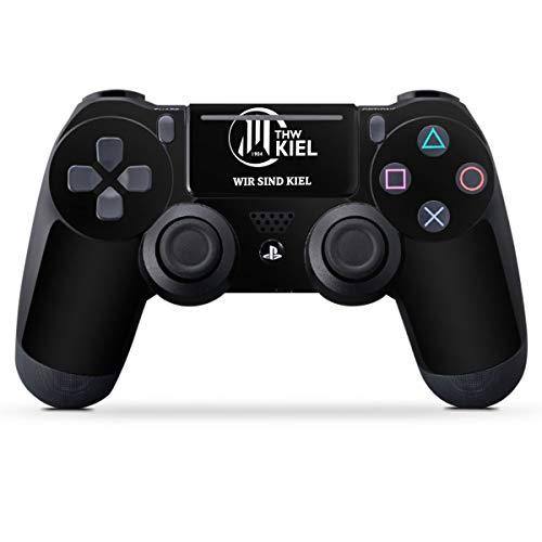 DeinDesign Skin kompatibel mit Sony Playstation 4 Slim Controller Folie Sticker Handball THW Kiel Fanartikel