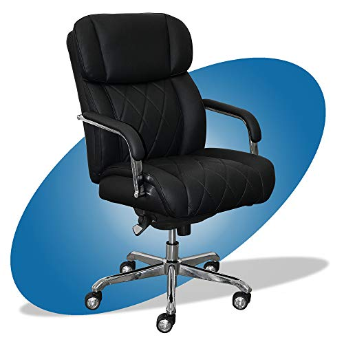La-Z-Boy Sutherland Quilted Leather Office Chair