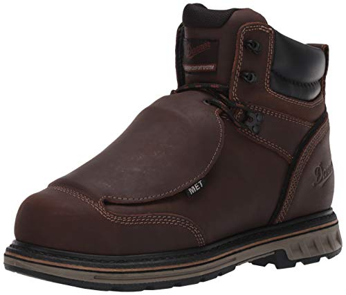 "Danner Men's Steel Yard 6"" Construction Boot, Brown, 14 D US"