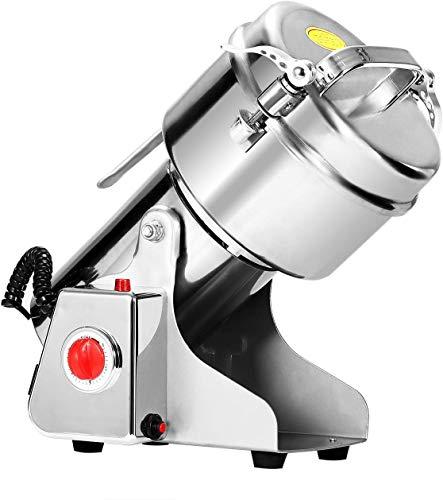 ZGYQGOO Getreidemühle 500g Mühle Pulver Maschine Swing Typ Kommerziellen Elektrische Getreidemühle Mühle für Kraut Pulverisierer Lebensmittelqualität Edelstahl (500g)