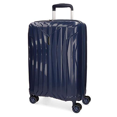 Movom Fuji Maleta de cabina Azul 39x55x20 cms Rígida Polipropileno Cierre TSA 37L 2,7Kgs 4 Ruedas dobles Equipaje de Mano