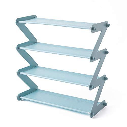 PPWW De acero inoxidable de montaje multicapa zapatero multifuncional del hogar de la tela no tejida simple almacenamiento zapatero rack