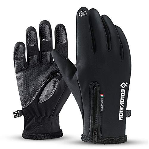 TRIWONDER Touchscreen Handschuhe, Warme Winterhandschuhe, Winddicht und rutschfest Skihandschuhe für Kinder, Damen und Herren (Schwarz, XL)
