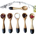 Pine Wooden Tea Spoon Size, 4 inch - Set of 6