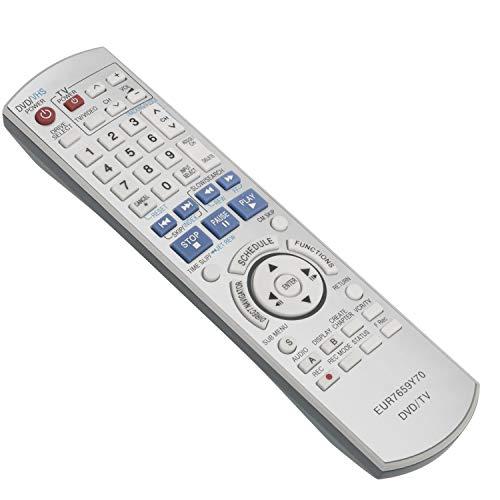 New EUR7659Y70 Replace Remote Control fit for Panasonic DVD VCR Recorder DMR-ES45 DMR-ES46 DMR-ES45V DMR-ES46V DMR-ES46VS DMR-ES35V DMR-ES35VP DMR-ES35VPC DMR-ES36V DMR-ES35 DMR-ES25 DMR-ES25S
