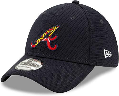 New Era - MLB Atlanta Braves 2020 Batting Practice 39Thirty Stretch Cap - Blau Größe L-XL, Farbe Blau