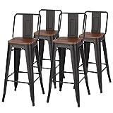 Warmiehomy Set of 4 <span class='highlight'>Bar</span> <span class='highlight'>Chairs</span> <span class='highlight'>Breakfast</span> <span class='highlight'>Bar</span> Coffee <span class='highlight'>Counter</span> Metal Stools Space Saving Compact Iron Chair