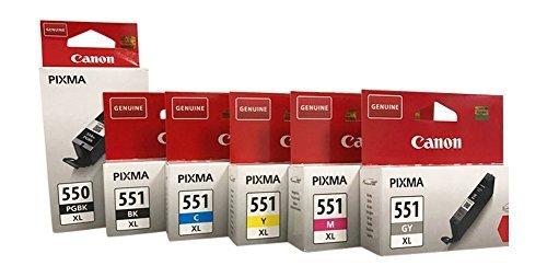 Original Druckerpatronen für Canon PIXMA iP8750, MG6350/ 7150/ 7550 (Multi XL (6er))