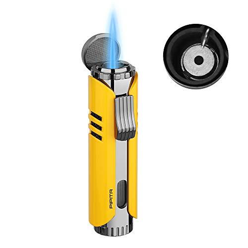 【高い品質】PIPITA 葉巻ライター トーチライター ターボ 注入式 ジェットライター 防風 充填式 直噴ターボライター タバコろうそく火起こし ガスライター キャンプ(ガスなし)