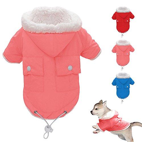 Berry Koud Weer Jas - Doggie Puppy Vest Warm Huisdier Ski Jas - Hond Kleding voor Kleine Medium, Grote en Extra-Grote Size Honden, S, roze