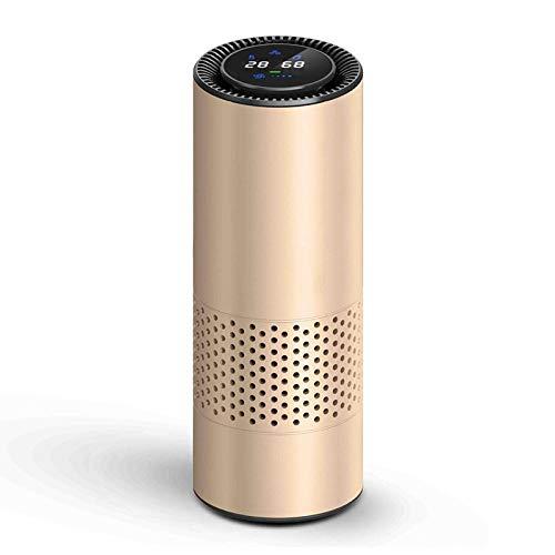 Luchtreiniger met hepa-filter voor verse lucht, auto-luchtreiniger, infraroodsensor, luchtfilter, het beste geschikt voor thuiskantoor goud