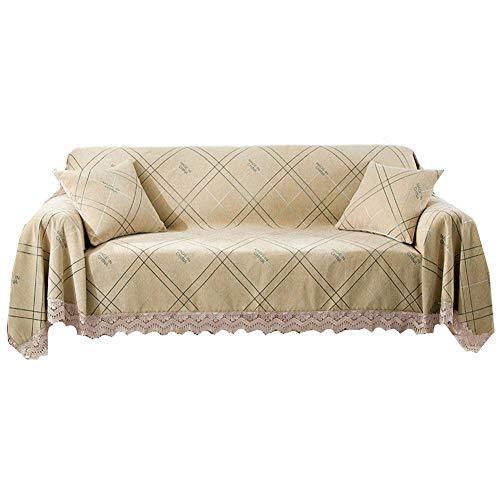 HAODEE Fundas de Sofa Resistente al Agua Cubresofa Sillón de la Cubierta Sofás Cubre Sofá Cubierta de Asiento Cubierta de sofá elástico Elástico sofá Cubre 180X240,Lattice