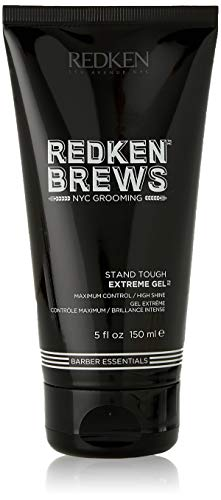 Redken Brews Extreme Gel For Men, High Hold, High Shine, Hair Gel 5.1 fl. oz