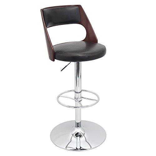 Hot Sale Lumisource Presta Barstool, Cherry Wood/Brown Seat