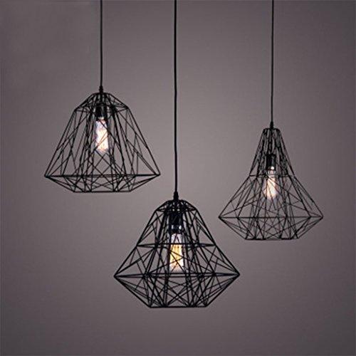 Pendentif Lumière Éclairage Vintage Polygon Fil Pendentif Lumière Art Plafond Éclairage (Couleur : C)