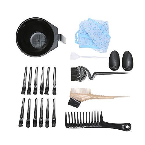 19 PCS Outil De Teinture Des Cheveux Kit De Coloration Des Cheveux Salon De Coiffure Brosse De Teinture Peigne Bol Cheveux Teinture Chapeau Clips De C