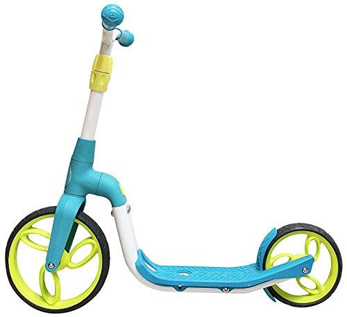 SportPlus Gecko 2in1 Laufrad und Scooter, Umwandlung vom Laufrad zum Scooter in Sekunden, 3-fach einstellbare Sitzhöhe, Max. Benutzergewicht: 35kg, blau, für Jungen, Sicherheit geprüft