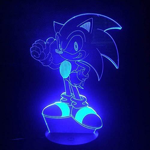 Jeu Sonic The Hedgehog Kids Led Night Light House Decorative Light Child Kids Baby Gift 7