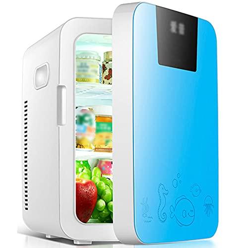 Refrigerador de coches de gran capacidad 16L, aire acondicionado de viaje de doble propósito para automóvil y hogar, AC/DC, 12~220V-azul a_16l