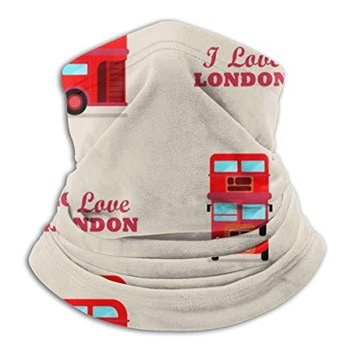 Lzz-Shop London City Bus Neck Warmer - Hoofdbanden Sjaal Hoofd Wrap, Nek Gaiter Tube Vissen, Gezicht Sport Sjaal