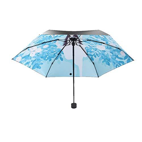 Paraplu Mooie Meisje Vouwen Dual-use Sen Zonnebrandcrème UV HZYDD