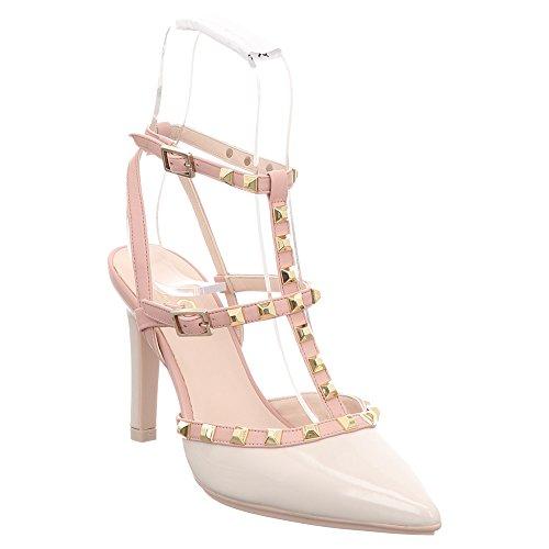 Lodi Relix-TP Charol Marfil - Zapatos de tacón, color beige