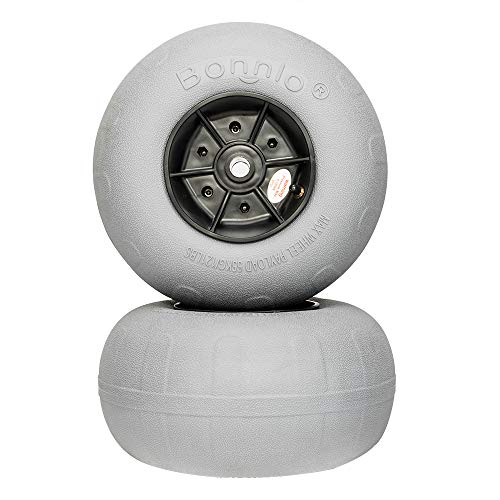Great Features Of Bonnlo Beach Wheels Updated 8.5 Replacement Balloon Sand Tires for Kayak Dolly Ca...