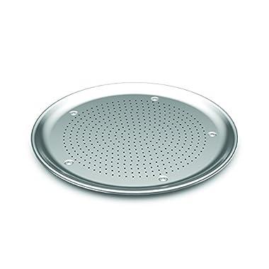 Nordic Ware 46000 Naturals Aluminum Commercial 16  Hot Air Pizza Crisper, Silver
